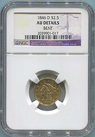 1846 D $2.50, Gold (Pre-1933) AU Details NGC