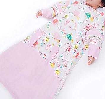 DIVAND Bebé orgánico Saco de Dormir, Unisex bebé Sleepsack usable Manta algodón Saco de Dormir Manga Larga Nido Camisones Conejo/3.5 TOG L/0-6 años,Pink,XL: ...