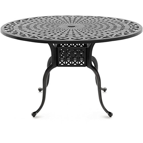 Lakeview Outdoor Designs Classique 48 Inch Round Cast Aluminum Patio Dining Table