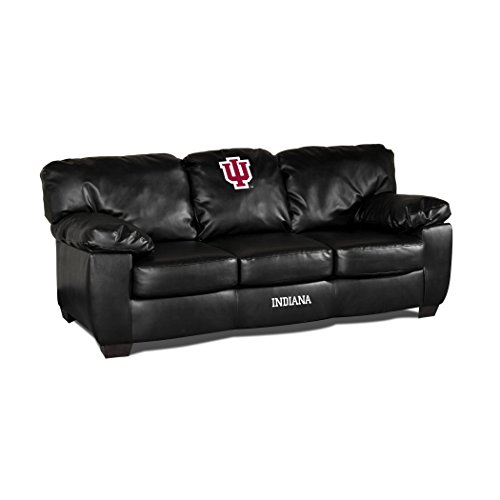 Imperial NCAA Indiana University Leather Classic Sofa, One Size, Black