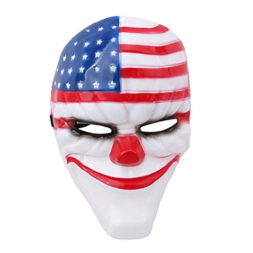 FULLIN Halloween Mask Cosplay Mask Theme Mask Game Mask For Halloween Masquerade Party,National flag (National Arts Club Halloween)