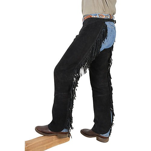 Tough-1 Western Fringed Chaps, Brown,