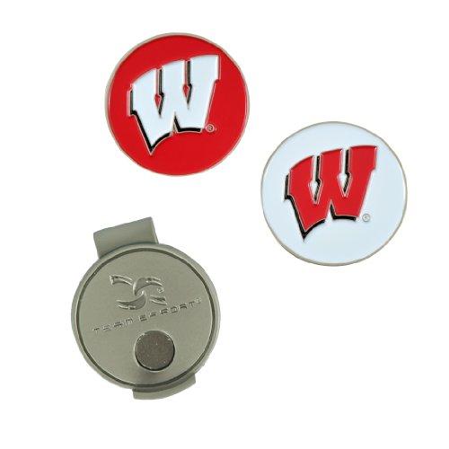 Team Effort Wisconsin Badgers Hat Clip & 2 Ball Markers Wisconsin Badgers Hat Clip