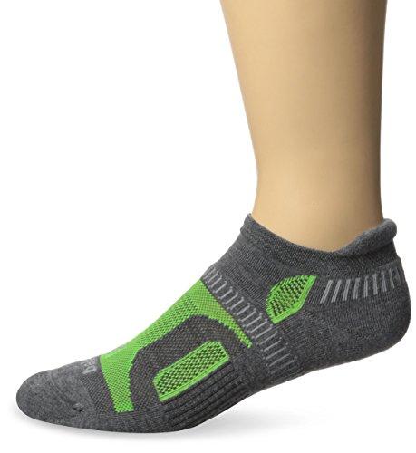 Balega Hidden Contour Socks, Charcoal/Neon Green, Medium