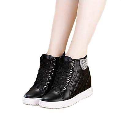 s wedge heel sneaker high top cz