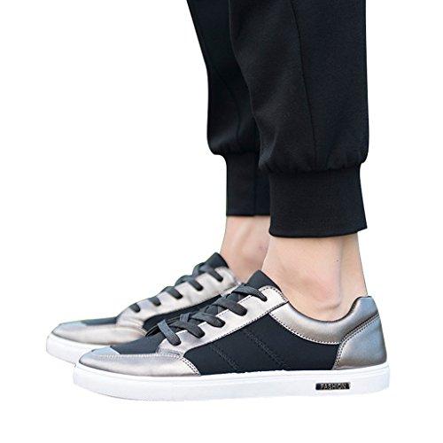 Cher Temps Hommes Lacent La Mode Baskets Chaussures Café Or