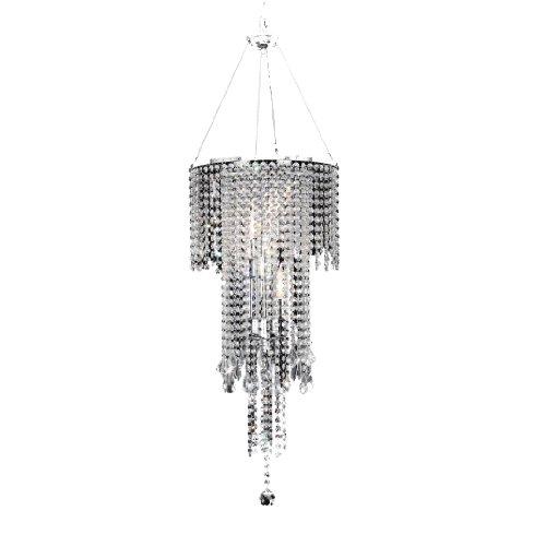 Ore International K-5112H Rain Metal Ceiling Lamp, 15.0