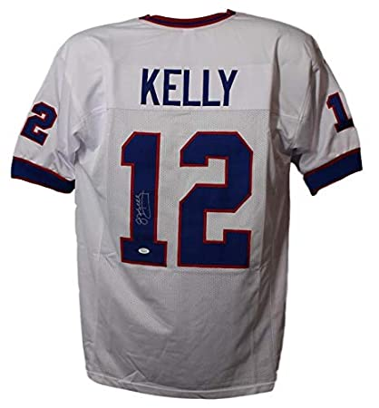 cee850ce943 Image Unavailable. Image not available for. Color: Jim Kelly  Autographed/Signed Buffalo Bills XL White Jersey JSA