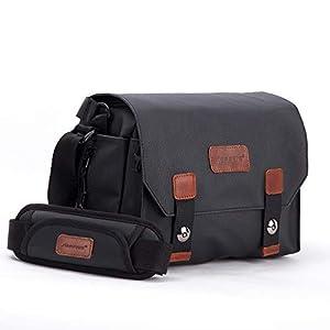 Best Epic Trends 41WjOTTDqjL._SS300_ AERFEIS Vintage Camera Case, Made of Waterproof Canvas, DSLR/SLR Shoulder Bag with Hidden Porket, Mirrorless Camera…