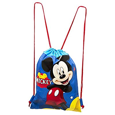 3PC Disney Mickey and Friends Drawstring Backpack Tote Bag: Toys & Games