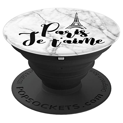 Paris Je T'aime Eiffel Tower French Gift French Language - PopSockets Grip and Stand for Phones and Tablets