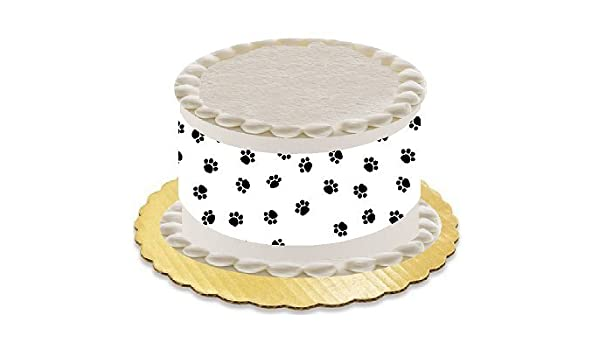 Amazon Dog Animal Paw Print Cake Cupcake Party Supplies Decoration Toppers Edible Border Kitchen Dining
