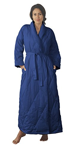Warm Things Quilted Down Robe Navy / S 8-10 by Warm Things