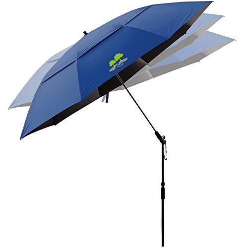 Beach Umbrella, Portable Outdoor Sun Beachs Umbrellas, 100% Antiultraviolet, 100% Waterproof, 360° Tilt,Green