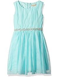 Speechless Big Girls' Jeweled Waist Mesh Dress