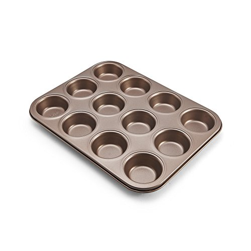 Chicago Metallic 5212101 Muffin/Cupcake Pan, 12-Cup, Bronze ()
