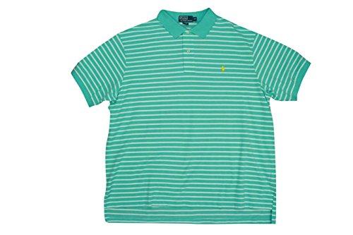 Polo Ralph Lauren Big&Tall Striped Shirt Aqua Blue/White Short Sleeve Casual