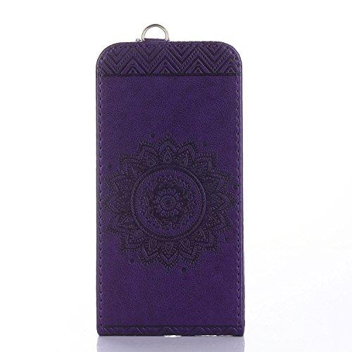 Für Apple iPhone 7 (4,7 Zoll) Tasche ZeWoo® Ledertasche Kunstleder Brieftasche Hülle PU Leder Schutzhülle Case Cover - GH019 / Deep Purple