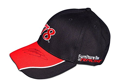 AUTOGRAPHED 2017 Martin Truex Jr. #78 Furniture Row Racing MONSTER CHAMPIONSHIP SEASON Signed Official MTJ Motorsports Black Cap/Hat with COA