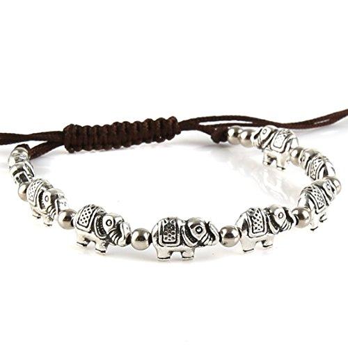 HZMAN Vintage Elephant Bracelet Resizable