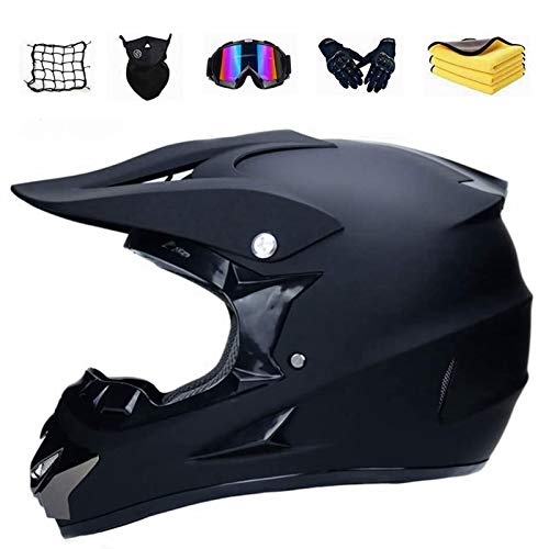 XIAOL Motocross Helm Set mit Handschuhe Maske Brille,Motorrad Crosshelm, Adult Motocross Helm,DH Helm, MTB Helm…