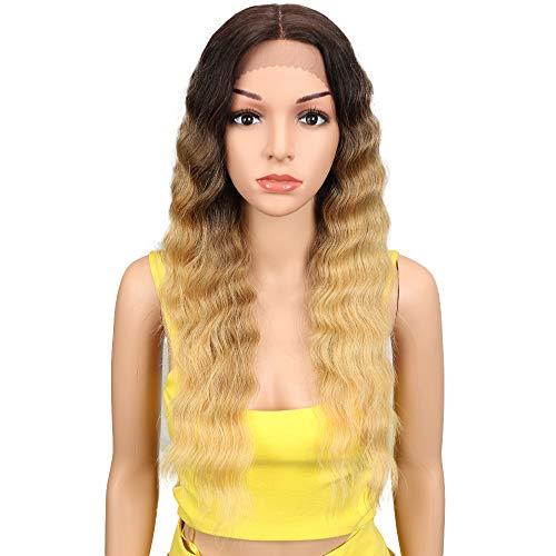 Joedir Lace Front Wigs 24 Long Wavy Synthetic Wigs For Black Women 130% Density Wigs(TAT6/27/24E)
