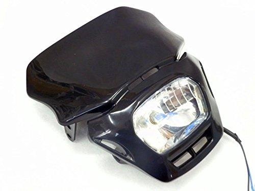 35W Black Off Road Dirt Bike Dual Sport Enduro MX Supermoto Headlight for Honda CRF Yamaha Kawasaki Suzuki
