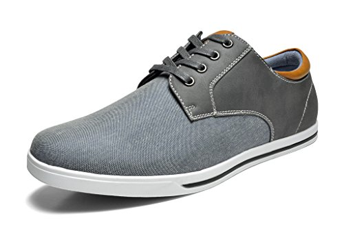 Bruno Marc Men's RIVERA-01 Grey Oxfords Shoes Sneakers - 6.5 M US