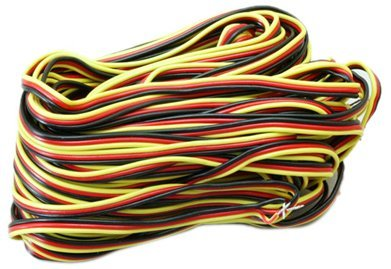 Hitec 59411 Servo Wire 50' 3 Color (3 Wire Servo)