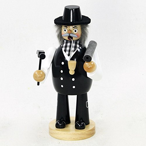 Sigro Roofers Figure with a Roller Roofing Board Incense Burners, 20 cm, Wood, Black, One Size by Sigro (Image #1)