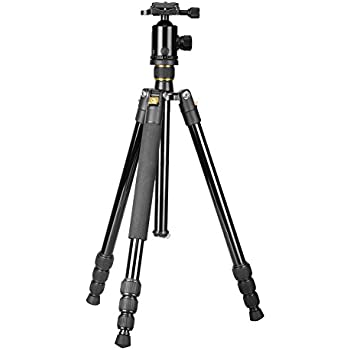 neewer portable 64 inches 163 centimeters aluminum alloy camera tripod monopod with. Black Bedroom Furniture Sets. Home Design Ideas