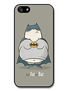 AMAF ? Accessories Fat Batman Too Fat To Bat Funny Illustration case for iphone 6 4.7