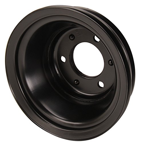 Triple Groove Crank Pulley for Big Block Chevy Long Pump Black