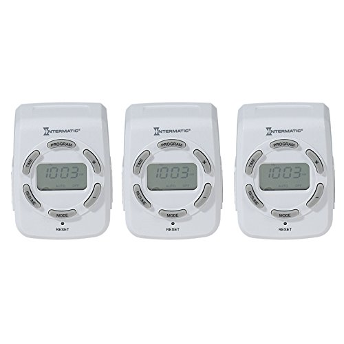 Intermatic DT122K 15 Amp 120V Indoor Programmable 7-Day Digital Timers, 3-Pack
