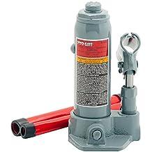 Pro-Lift B-002D Grey Hydraulic Bottle Jack - 2 Ton Capacity