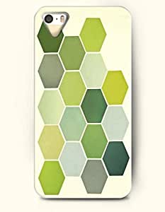 iPhone 5/5S Case, OOFIT Phone Cover Series for Apple iPhone 5 5S Case (DOESN'T FIT iPhone 5C)-- Olive Green Hexgaon -- Honeycomb Pattern