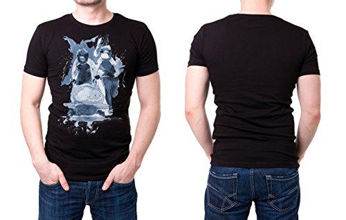 Bobsport_III schwarzes modernes Herren T-Shirt mit stylischen Aufdruck