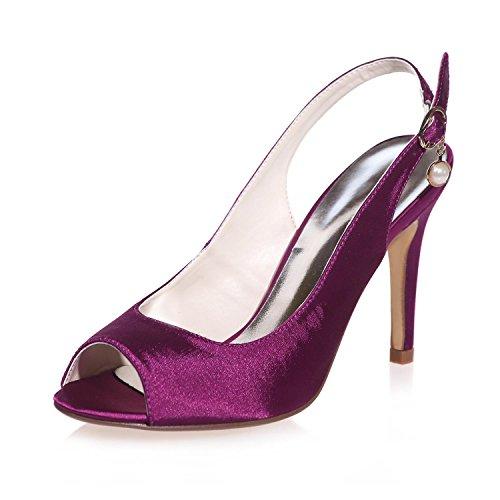 18 Seta Peep Sposa Donna Purple Da Party Scarpe More In yc 5623 amp; L Toe Colors Night q8xXRtZIw