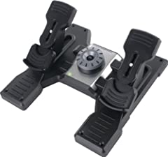Complete your virtual pilot's controller setup and take flight simulation reality to the next level with the Pro Flight Rudder Pedals. Control the rudder and toe brakes of your aircraft with your feet - just like real pilots. Adjustable, smoo...