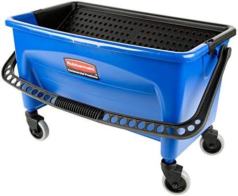 RUBBERMAID FGQ93000BLUE Mop Bucket and Wringer,28 qt.,Blue