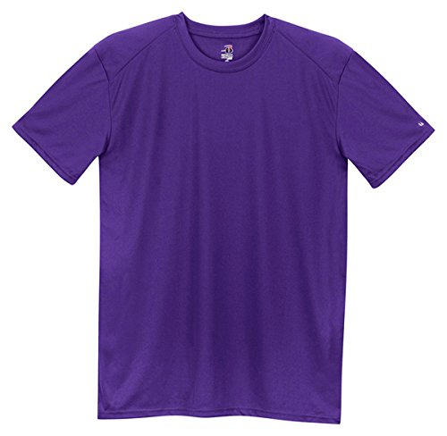Badger Sportswear Youth Short Sleeve CrewNeck T-Shirt, purple, - Sleeve Short T-shirt Badger
