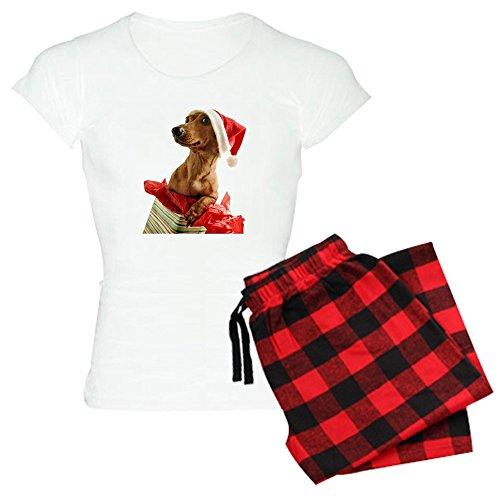 CafePress - Dachshund Christmas Women's Light Pajamas - Womens Novelty Cotton Pajama Set, Comfortable PJ Sleepwear (Dachshund Christmas Pajamas)