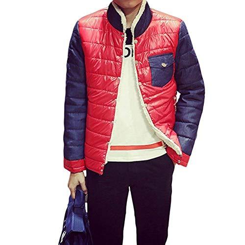 Caldo Caldo Caldo degli Uomini Rosso Rosso Rosso Rosso di Soprabito BIRAN Unico del Cotone Cappotto Cappotto di Neren del Soprabito Mandarino del del Impermeabile Impermeabile del Collare HRYqR