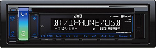 JVC KD-R888BT CD Receiver featuring Bluetooth / USB / AUX Input / Pandora / iHeartRadio / FLAC / 13-Band EQ / JVC Remote App Compatibility