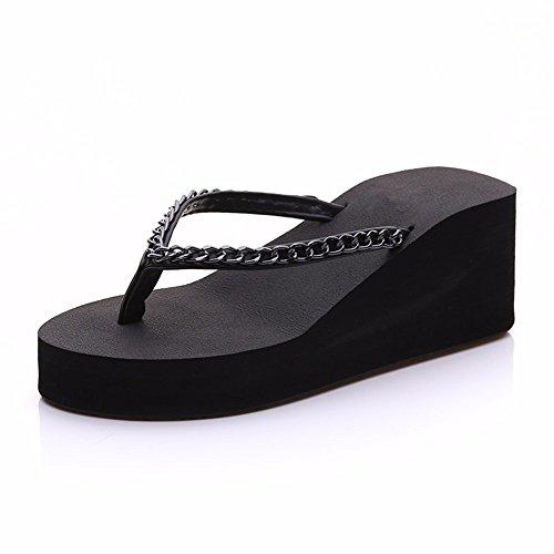 36 con Zapatillas Personalidad 36 Exteriores para Verano de Tacón Zapatillas y Alto de YMFIE YqdOO