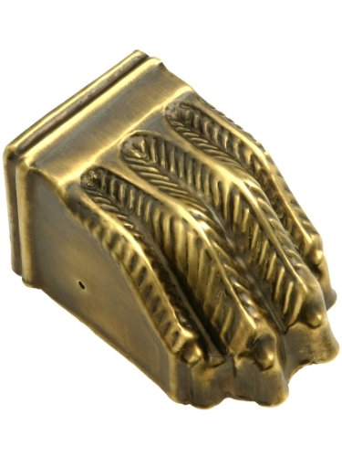 Large Size Brass Claw Foot Toe Cap In Antique-By-Hand Finish