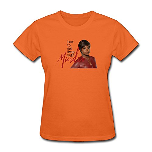 Jiaso Women's How To Get Away With Murder 2014 Film Annalise Keating Tshirts Large Orange