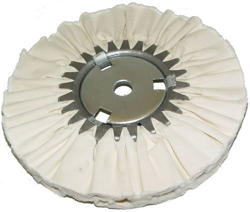 Magnate AWS14114 Soft Airway Buffing Wheel - 100% Cotton Sheet - 14'' Diameter; 1-1/4'' Hole Diameter