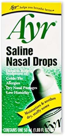 Allergy & Sinus: Ayr Saline Nasal Drops