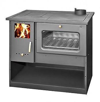 Estufa de leña con horno de alta eficiencia, fabricada en la UE, 9 ...
